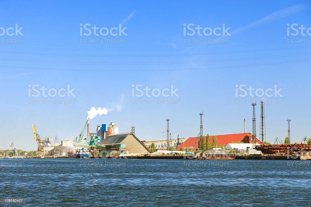 Port of Gdansk royalty-free stock photo