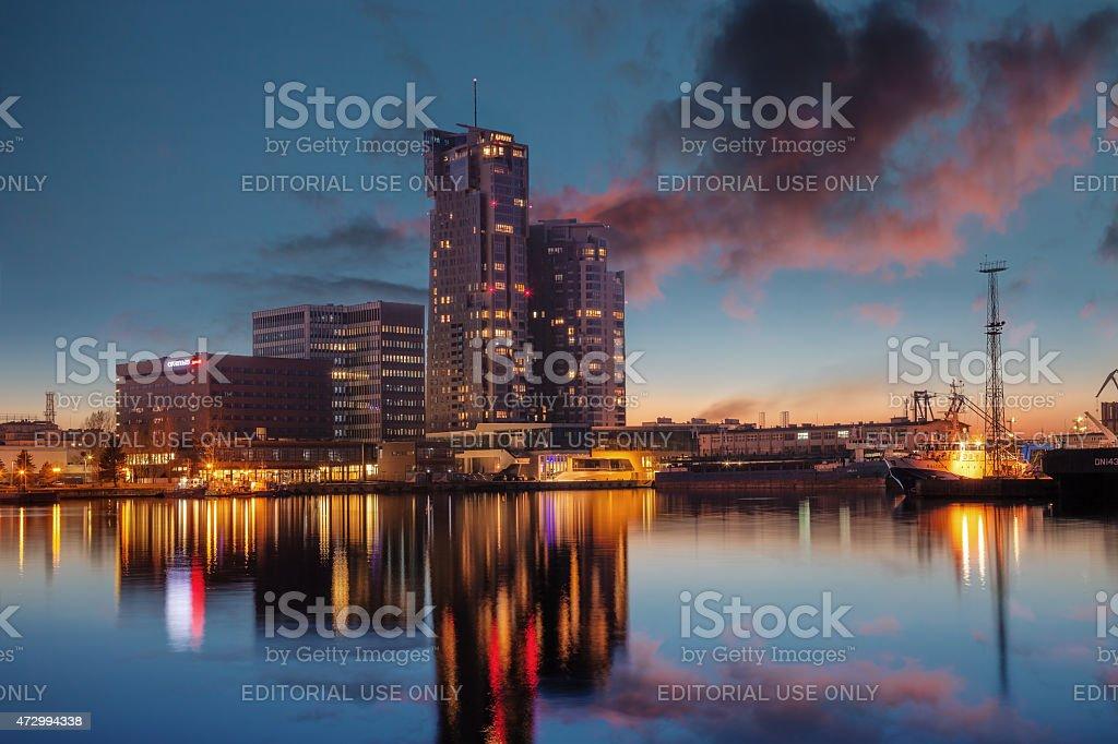 Port of Gdynia stock photo