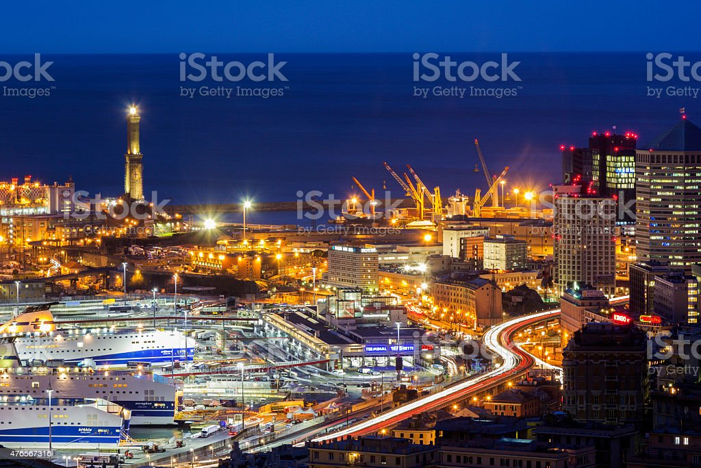 Port of Genoa, Italy stock photo