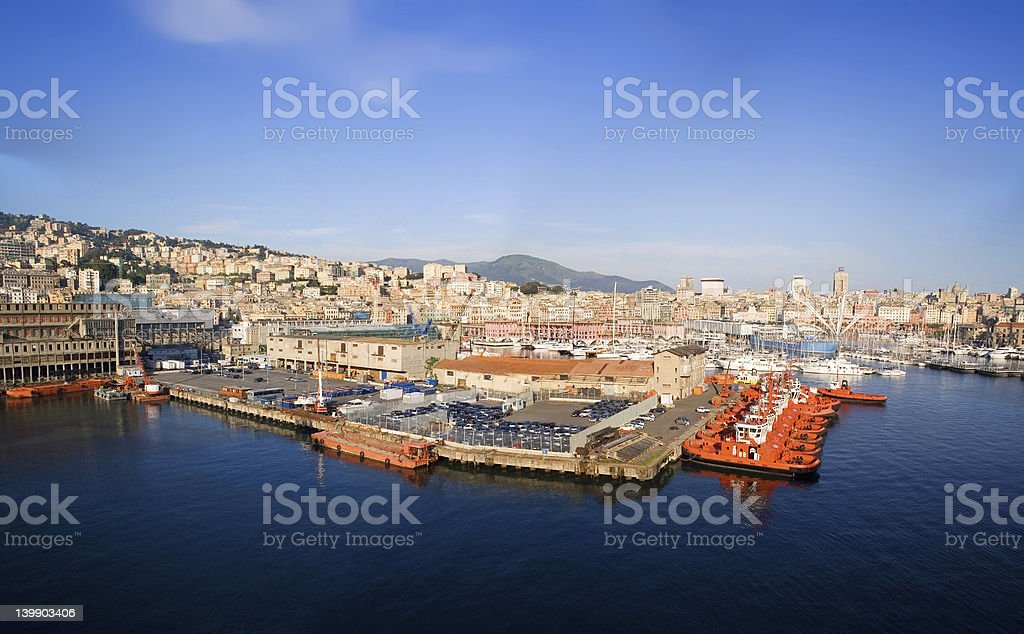 Port Of Genova stock photo