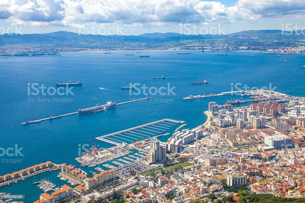 Port of Gibraltar stock photo
