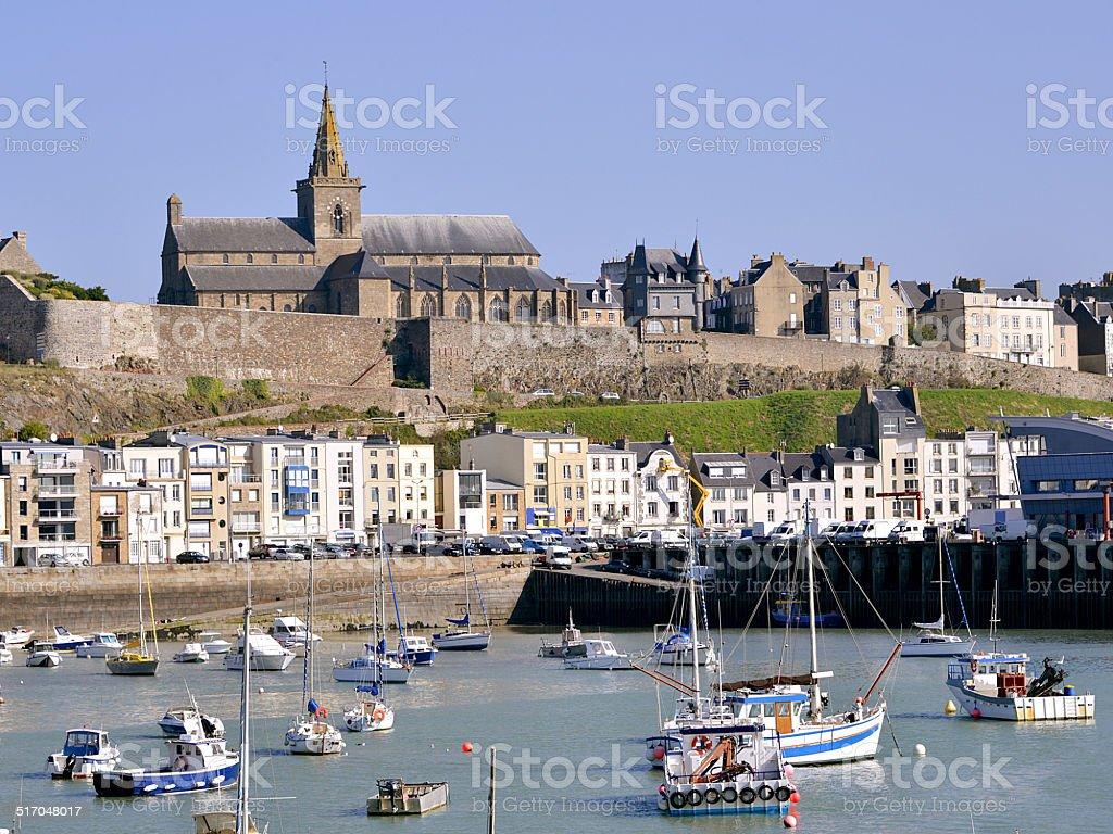 Port of Granville in France stock photo