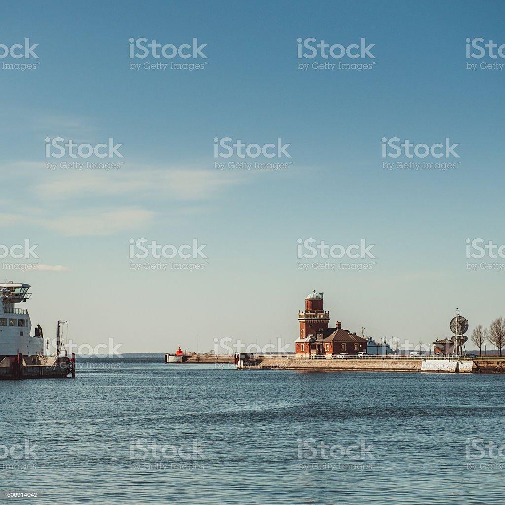 Port of Helsingborg Skåne stock photo