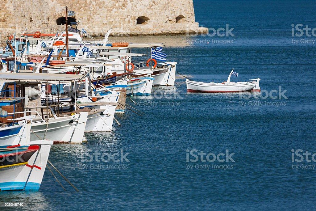 Port of Heraklion, Greece stock photo