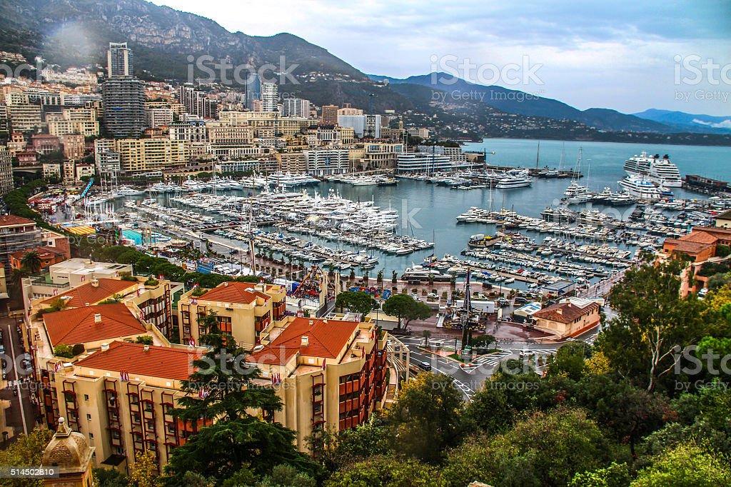 Port of Hercules in Monaco, France stock photo