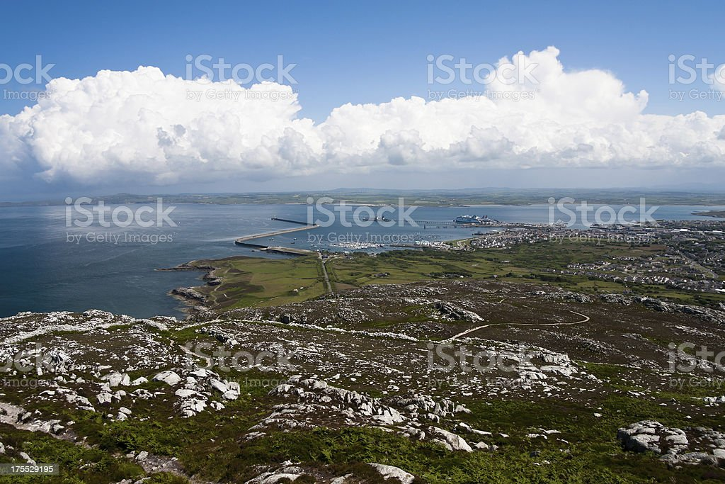 Port of Holyhead on Anglesey stock photo