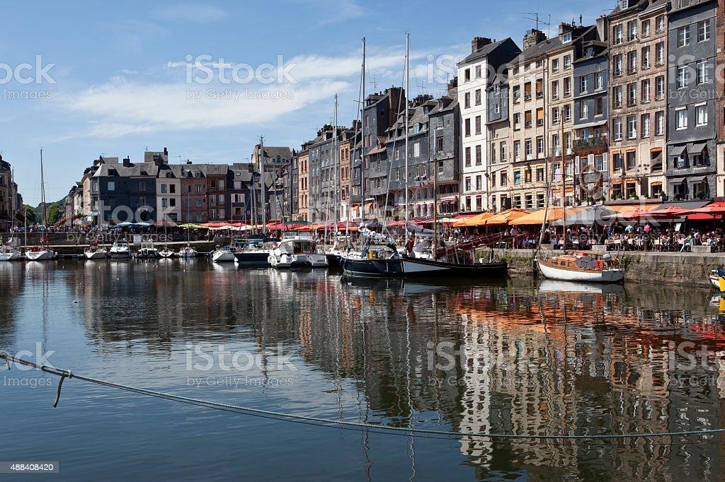 Port of Honfleur, France stock photo