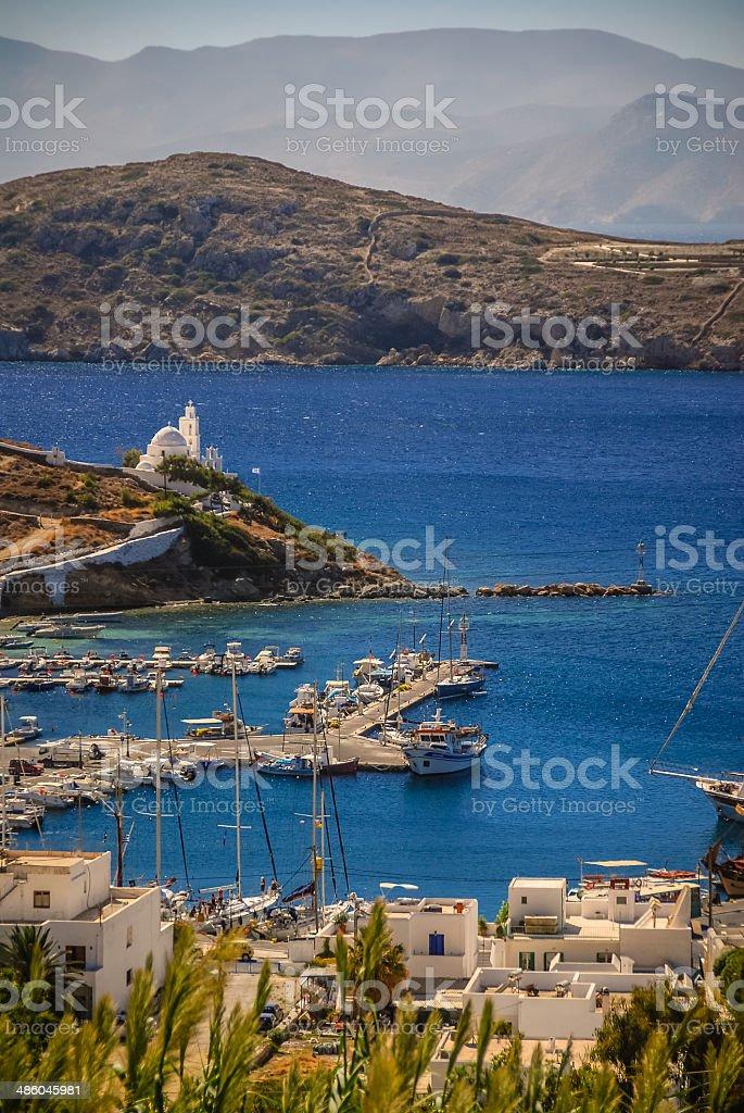 Port of Ios Island, Greece stock photo