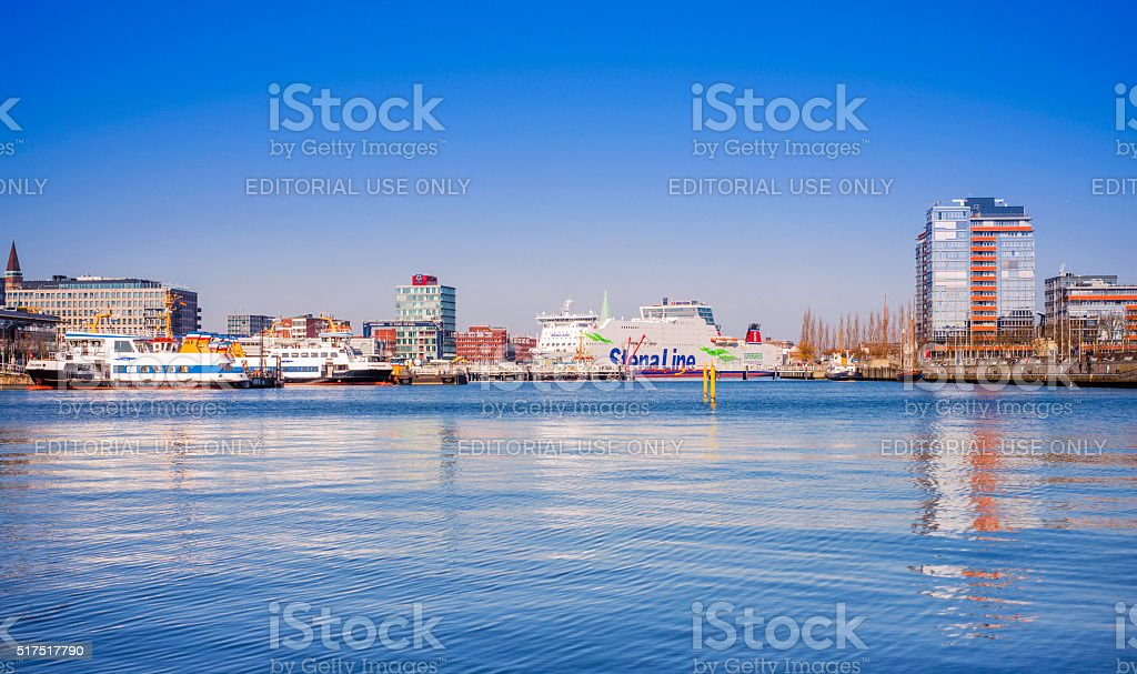 Port of Kiel, Schleswig-Holstein (Germany) stock photo