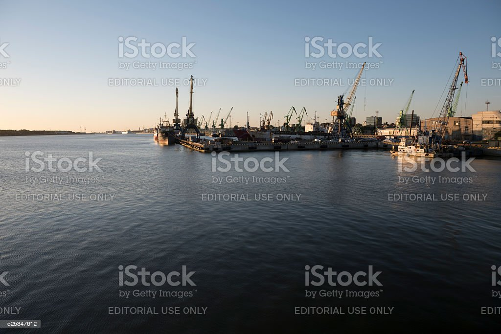 Port of Klaipeda, Lithuania stock photo