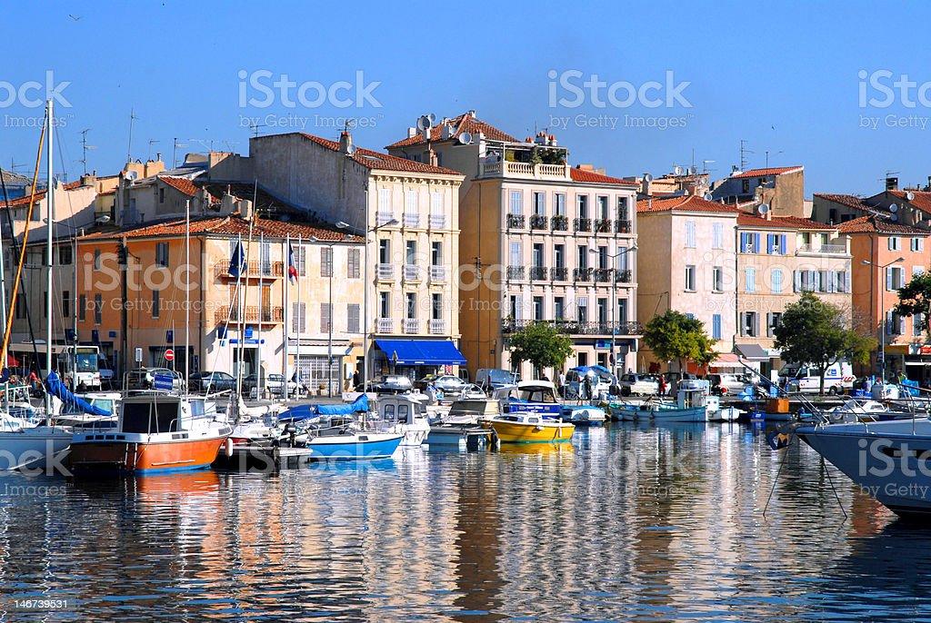 Port of La Ciotat in France royalty-free stock photo