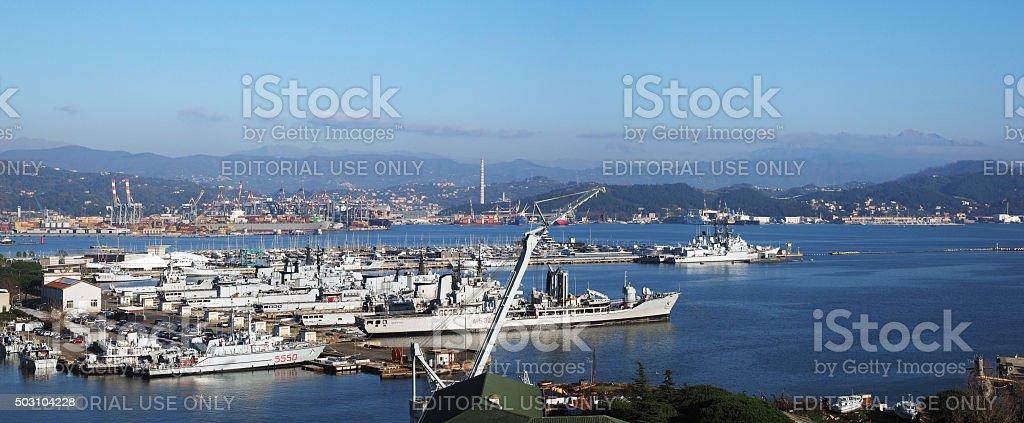 Porto della Spezia. Color Image stock photo