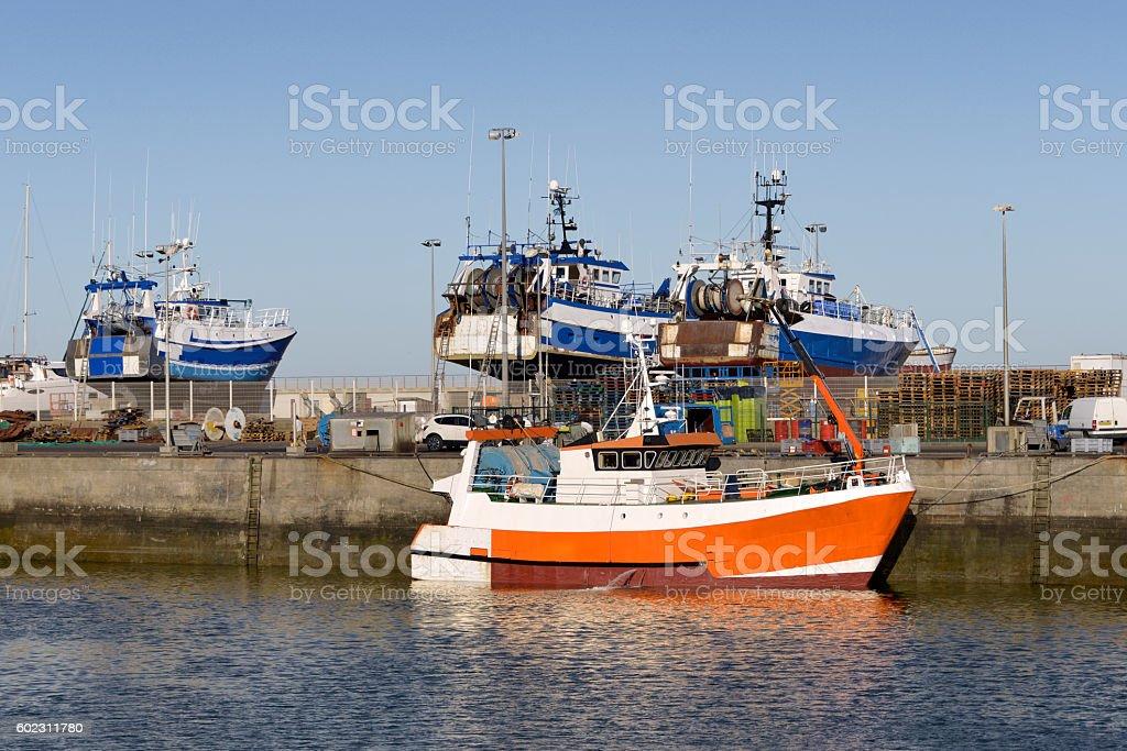 Port of La Turballe in France stock photo