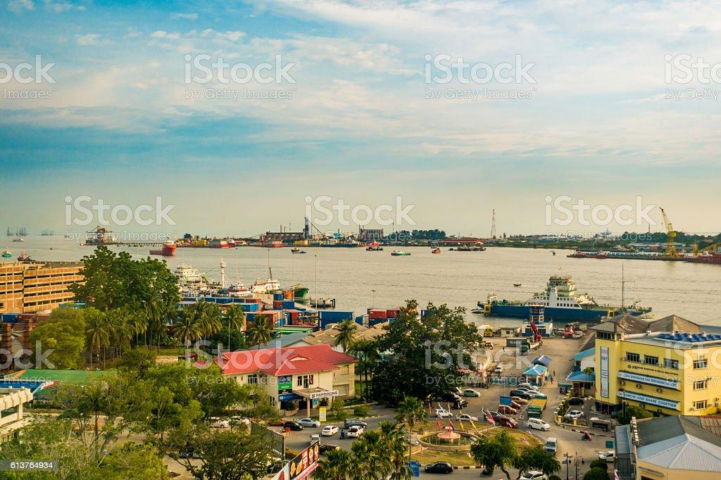 Port of Labuan Malaysia stock photo