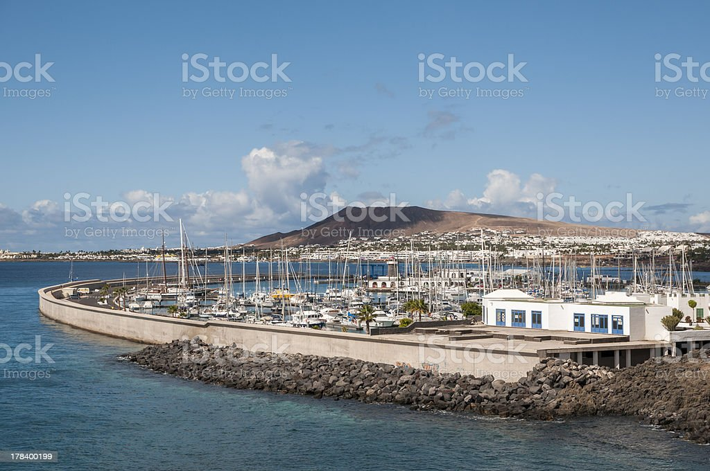 port of Lanzarote royalty-free stock photo