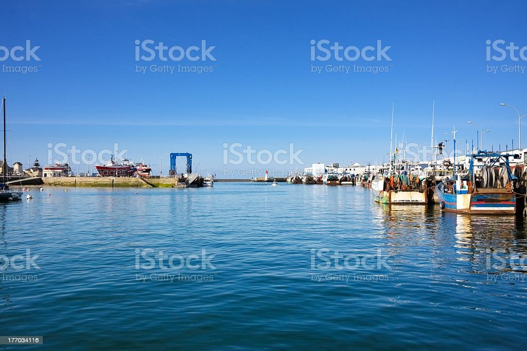 Port of Le Guilvinec (Brittany, France) stock photo