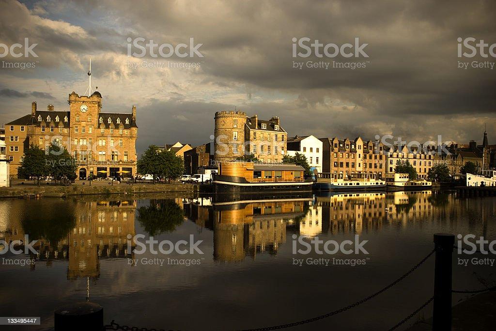 Port of Leith, Scotland stock photo