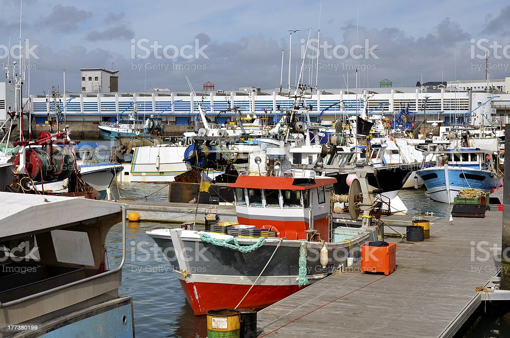 Port of Les Sables d'Olonne in France stock photo