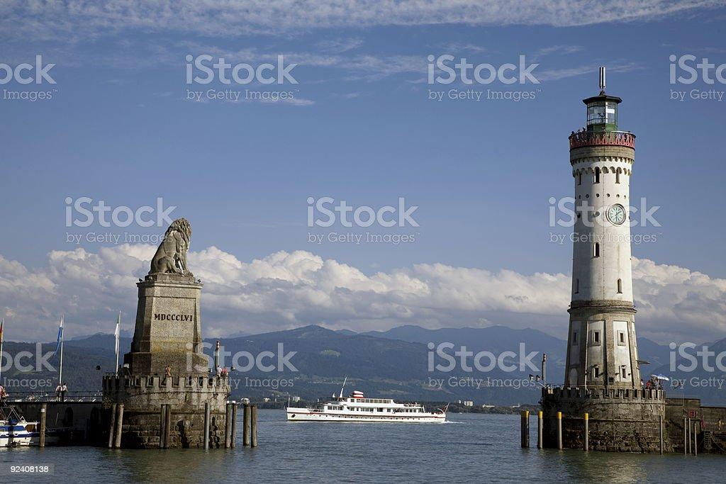port of Lindau, Germany royalty-free stock photo