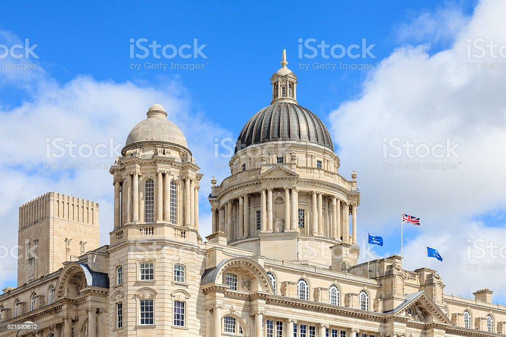 Port of Liverpool Building stock photo