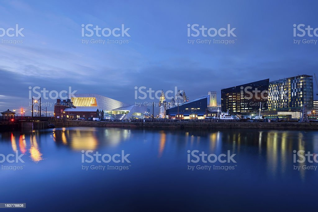 Port Of Liverpool England UK stock photo