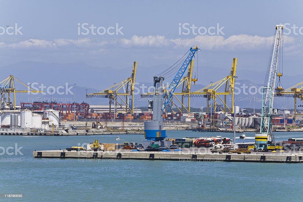 port of livorno royalty-free stock photo