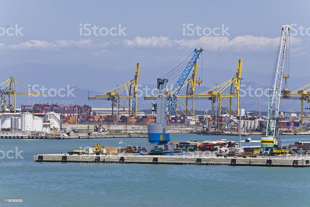 port of livorno stock photo