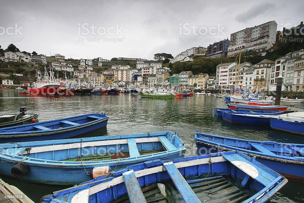 Port of Luarca, Asturias Spain stock photo