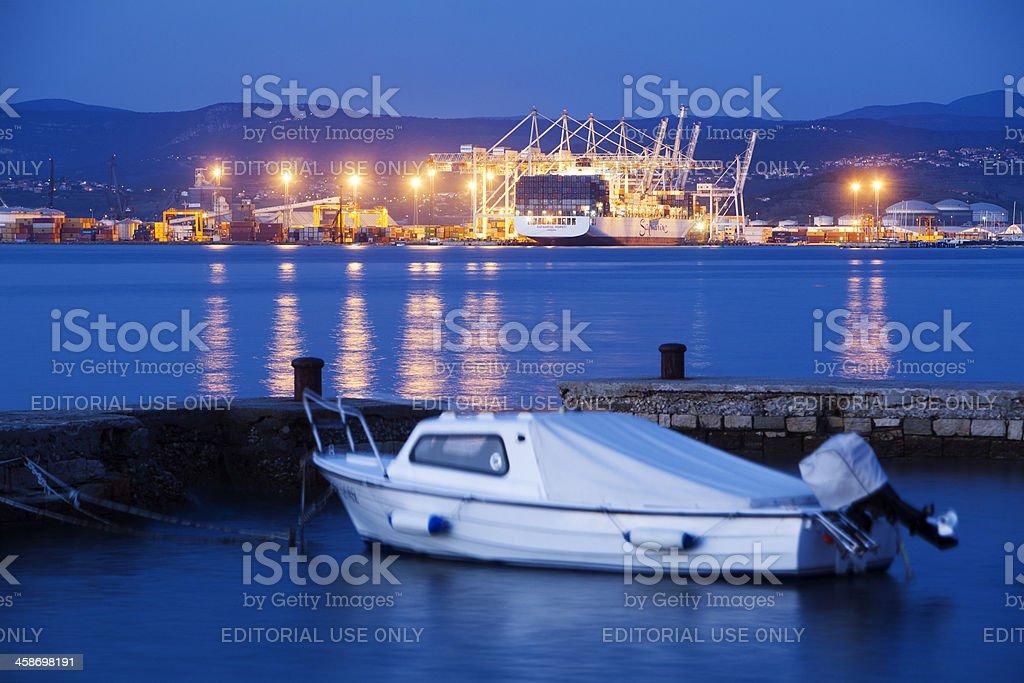 Port of Luka Koper, Slovenia stock photo
