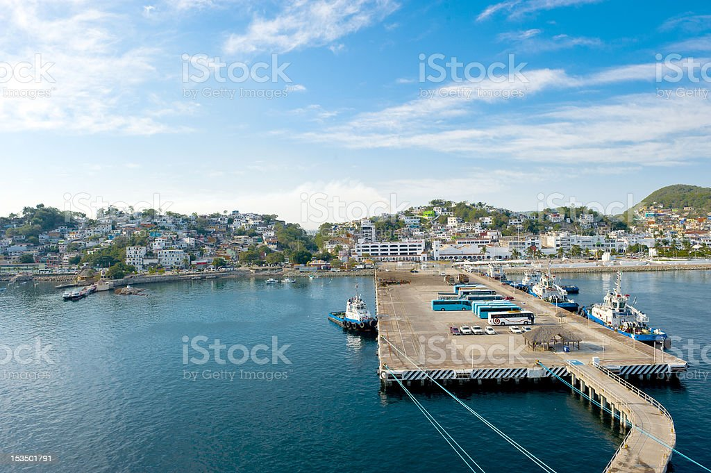 Port of Manzanillo, Mexico stock photo