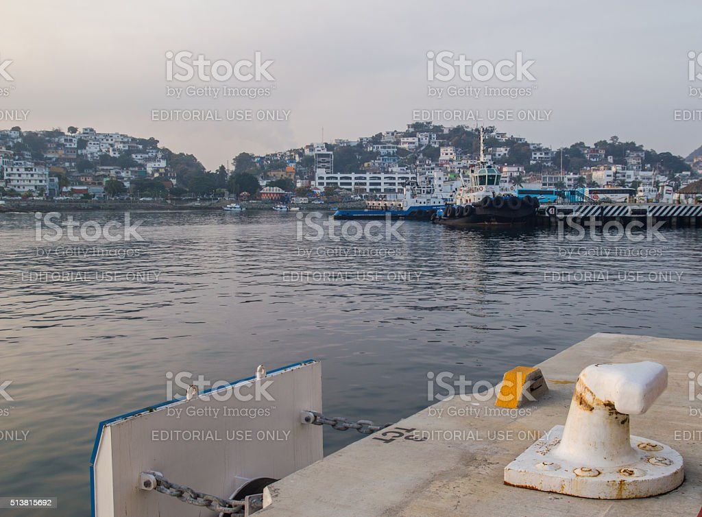 Port of Manzanillo stock photo