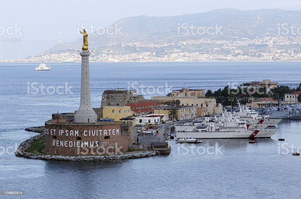 Port of Messina, Italy stock photo