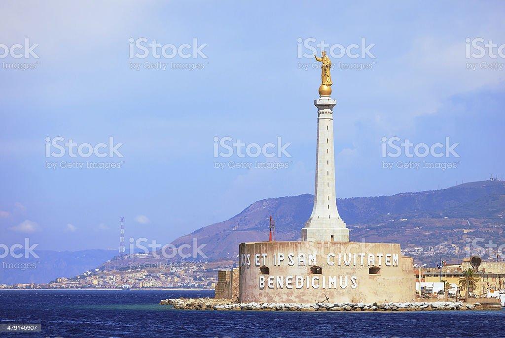 Port of Messina stock photo