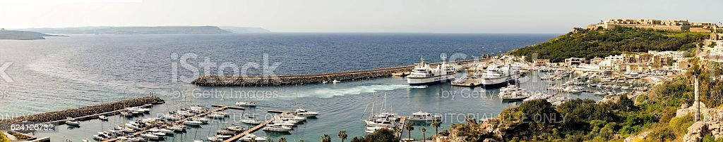 Port of Mgarr on the small island of Gozo, stock photo