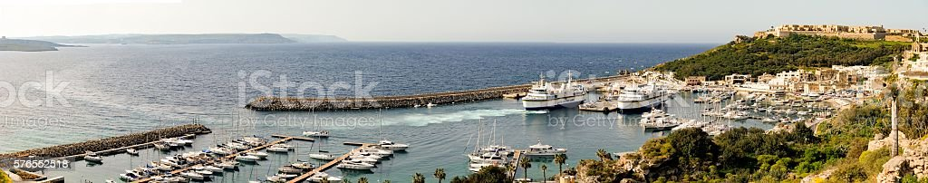 Port of Mgarr stock photo