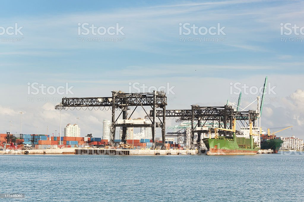 Port of Miami Container Shipping Dock Vt royalty-free stock photo