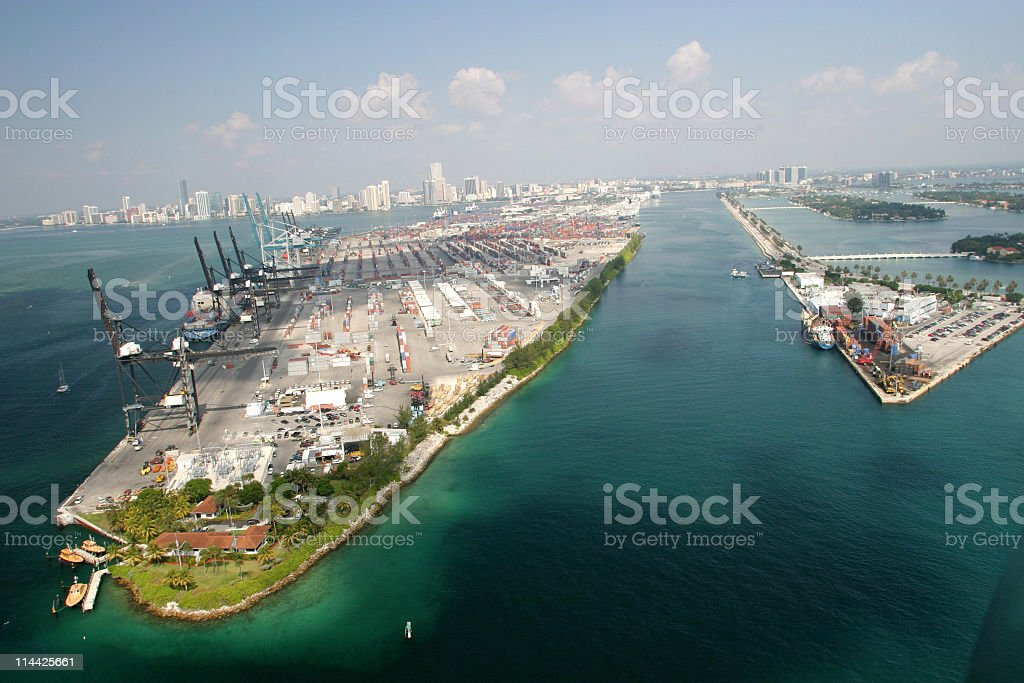 Port of Miami royalty-free stock photo