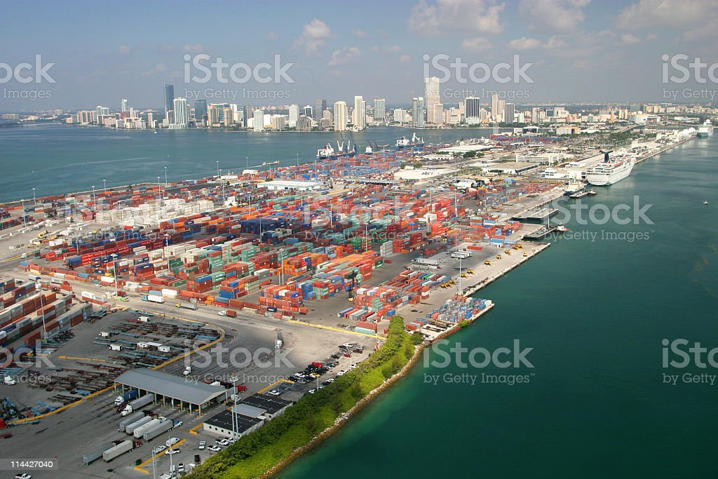 port of Miami royalty-free stock photo