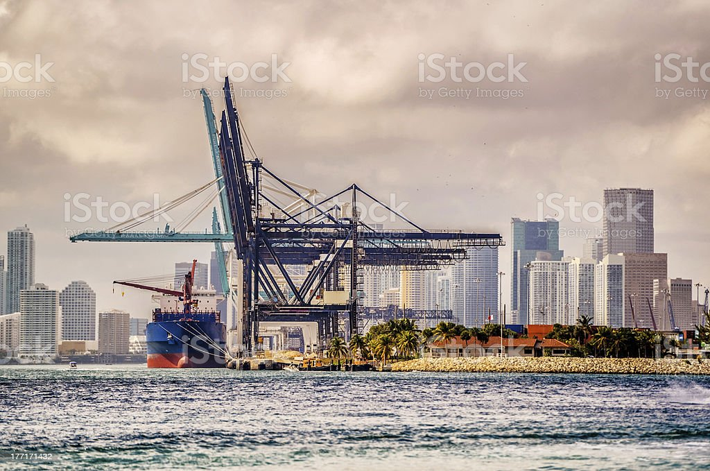 Port of Miami stock photo