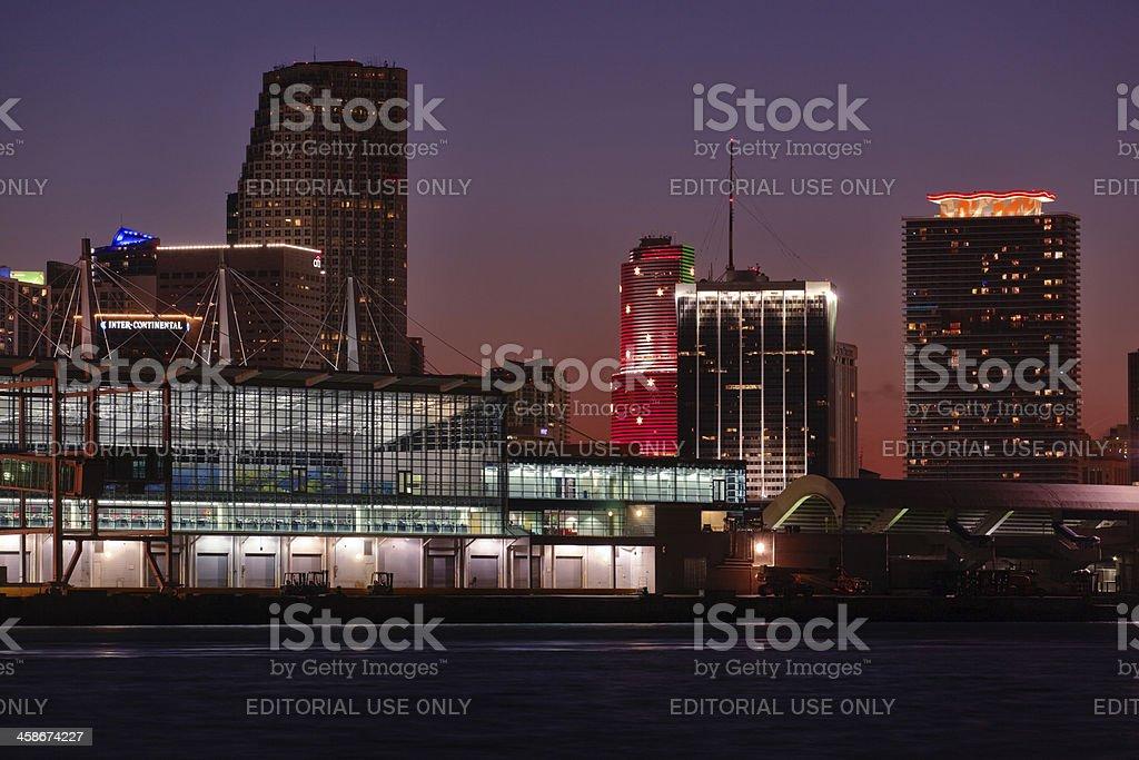 Port of Miami terminal stock photo