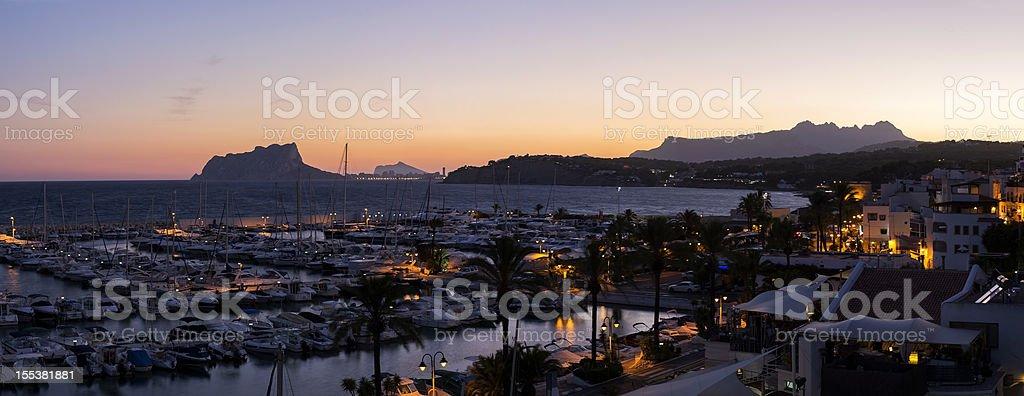 Port of Moraira, Spain stock photo