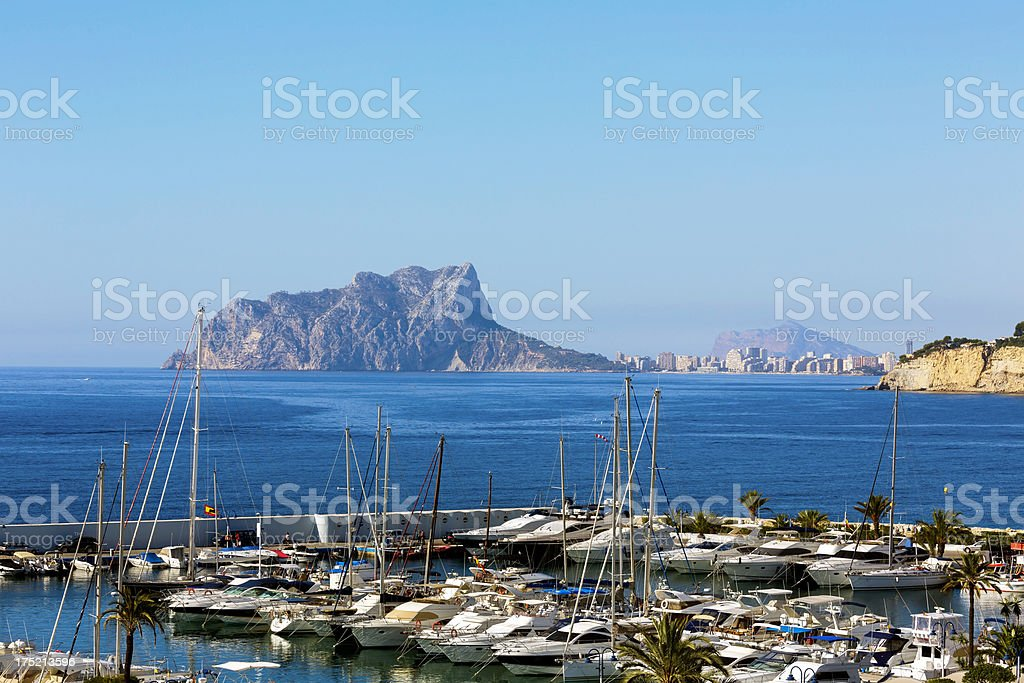 'Port of Moraira, Spain' stock photo
