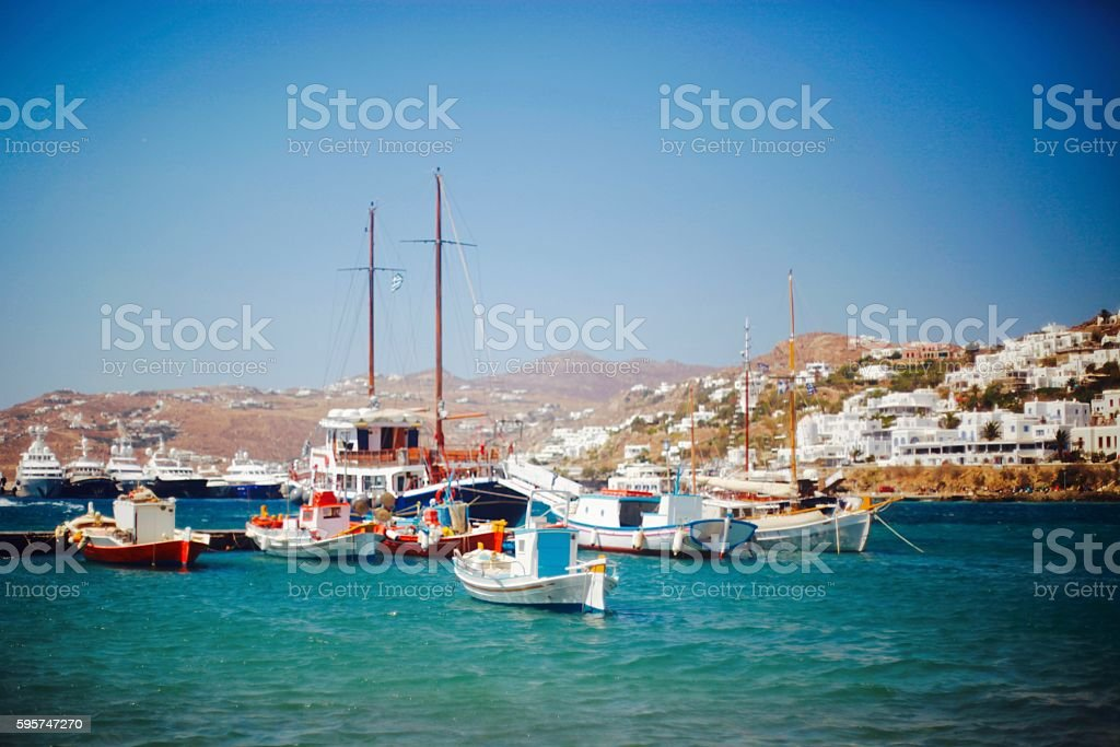 Port de Mykonos stock photo
