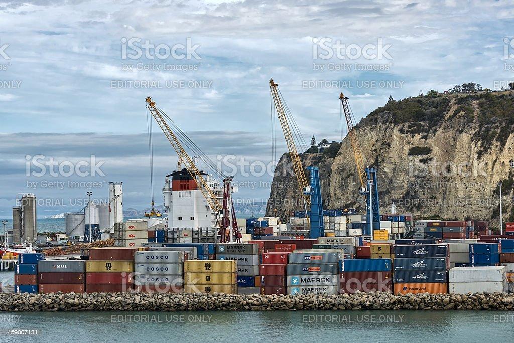 Port of Napier New Zealand stock photo