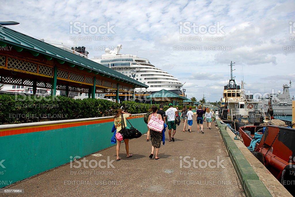 Port of Nassau, Bahamas stock photo