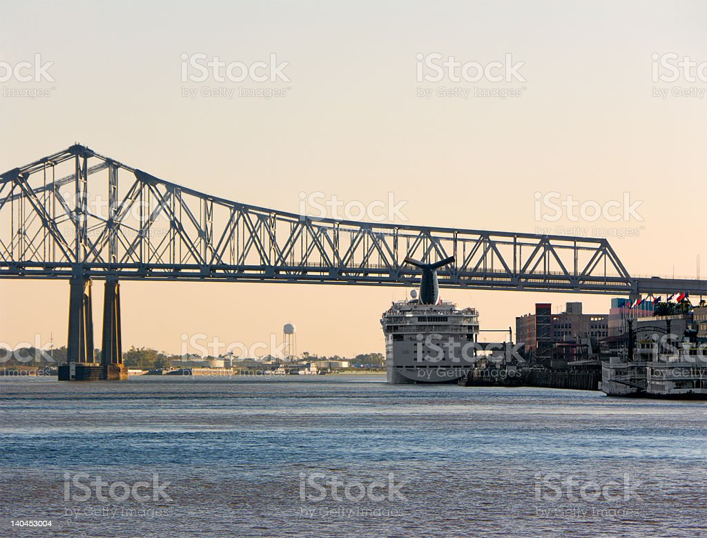 Port of New Orleans royalty-free stock photo