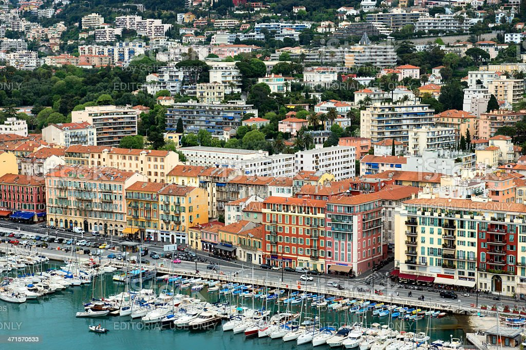 Port of Nice, Cote d'Azur, France royalty-free stock photo