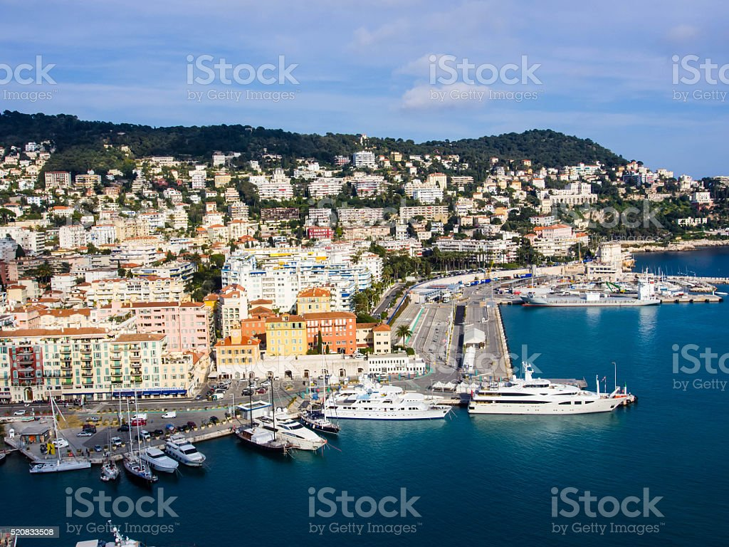 Port of Nice in France, French Reviera stock photo