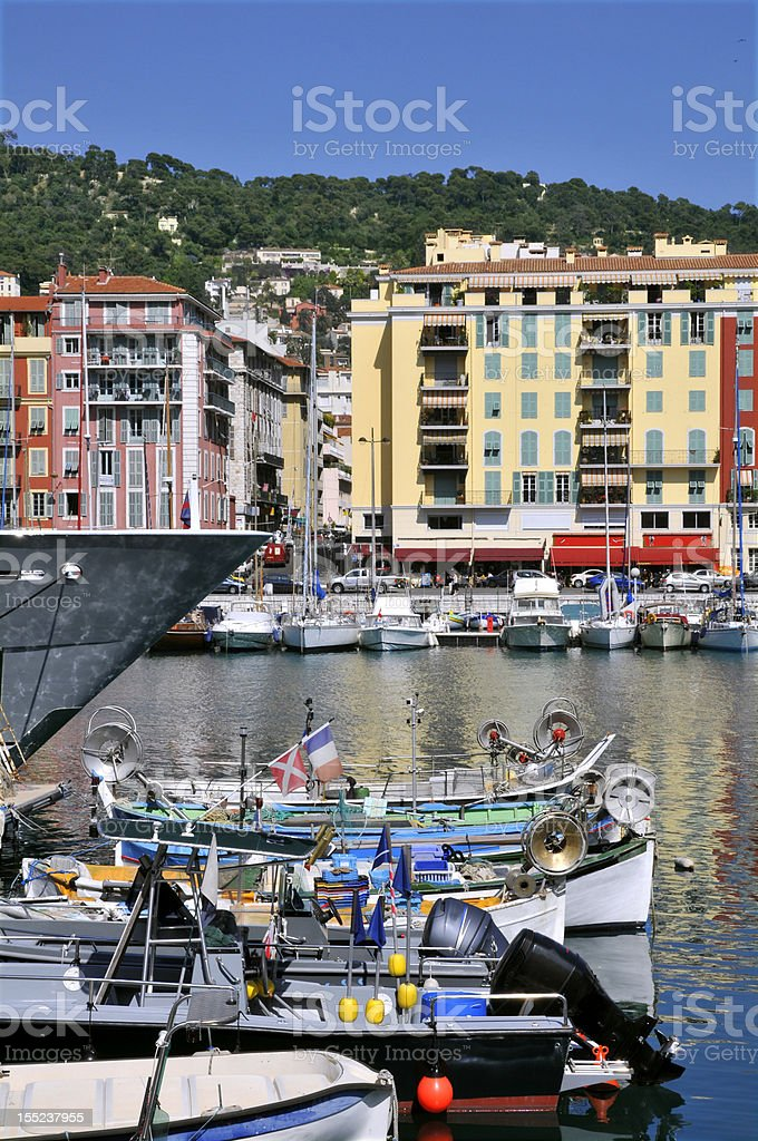 Port of Nice in France royalty-free stock photo