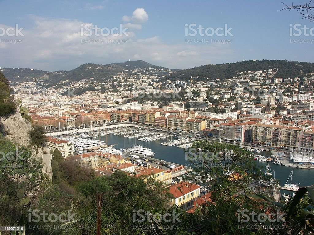 Port of Nice (French Riviera) royalty-free stock photo
